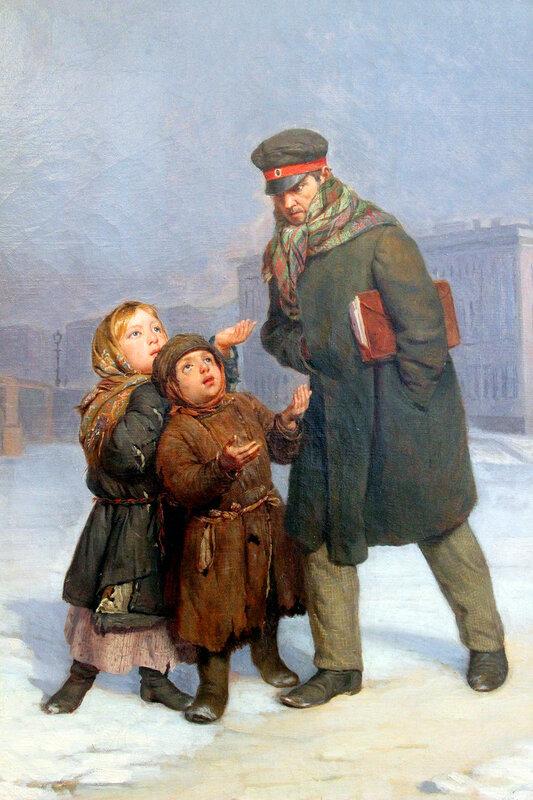 Ф.С. Журавлёв 1860 г. Холст, масло,Дети-нищие