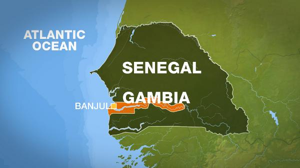 Гамбия — карта