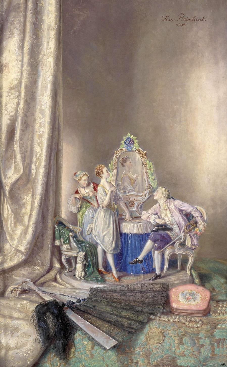 1935_Натюрморт с группой фарфоровых фигурок (Still Life with Group of Porcelain Figures)_69 х 44_д.,м._Частное собрание.jpg