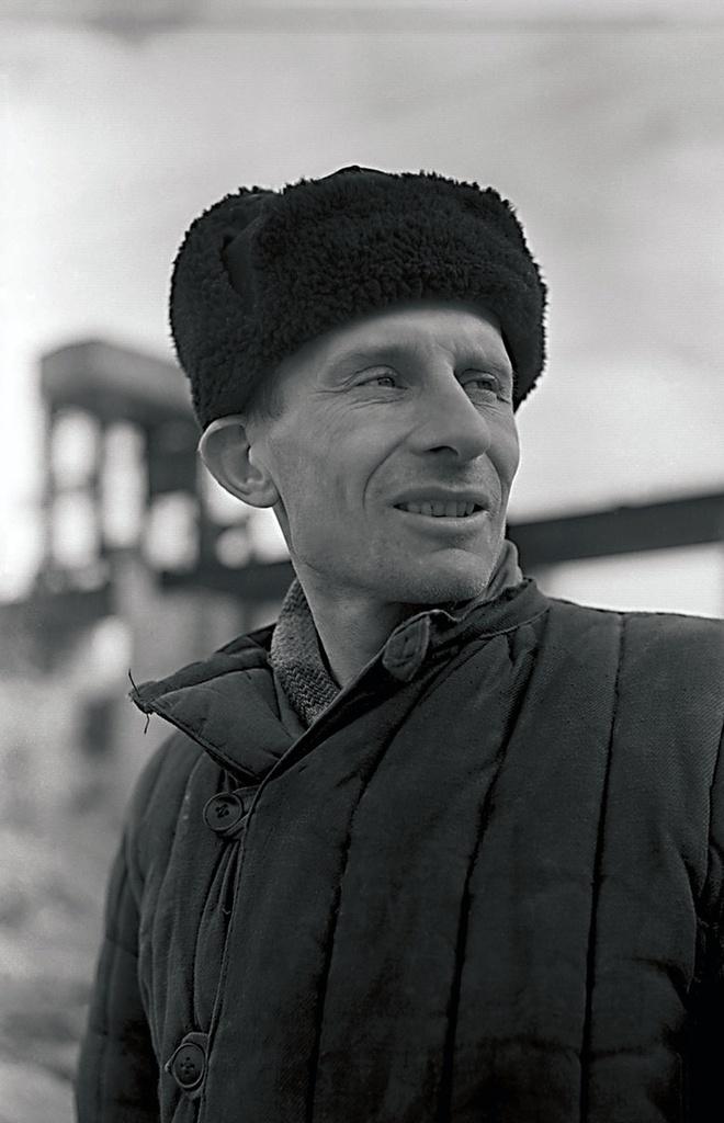 Южноуральск. Южноуральская ГРЭС. Рабочий-первостроитель (1951)