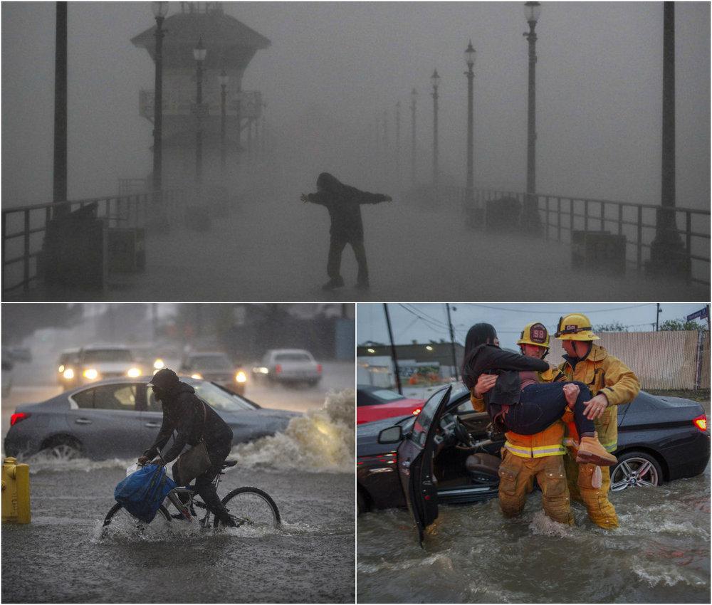 Powerful hurricane in california