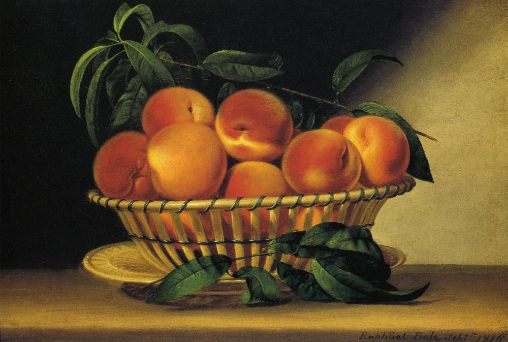 Рафаэль Пил. Миска с персиками. 1818