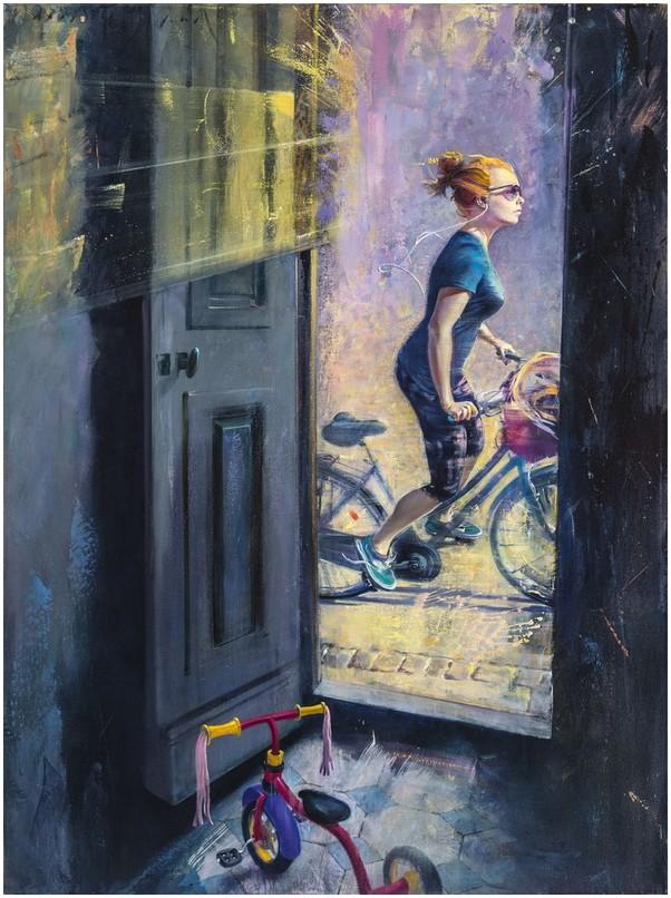 Жизнь большого города / художник David FeBland