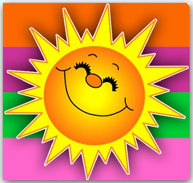 Открытки. 3 мая День Солнца! Солнышко довольное!