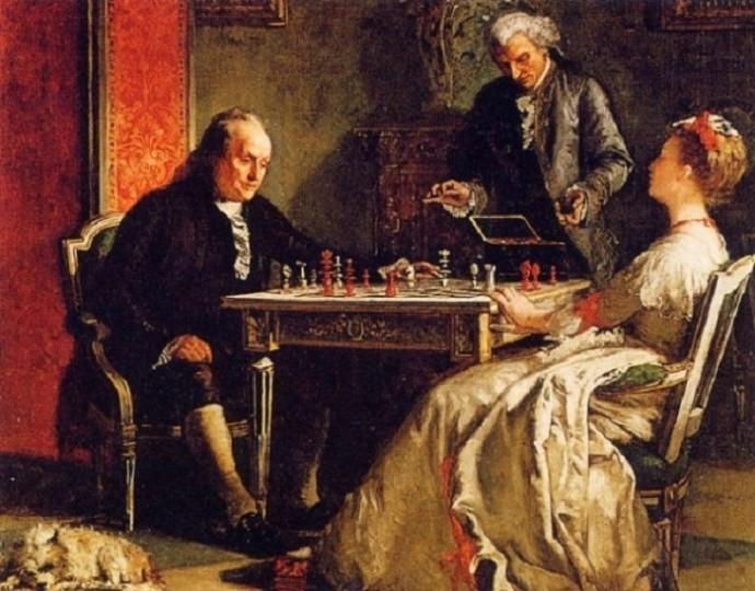 Международный день шахмат. 20 июля. Элита играла в шахматы в прошлом