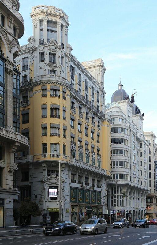 Утренний Мадрид. Гран-Виа. Дом Книги (Casa del Libro)