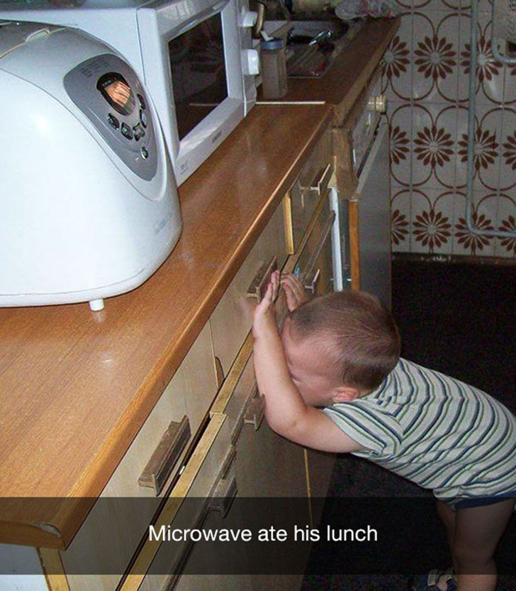 «Микроволновка съела его обед».