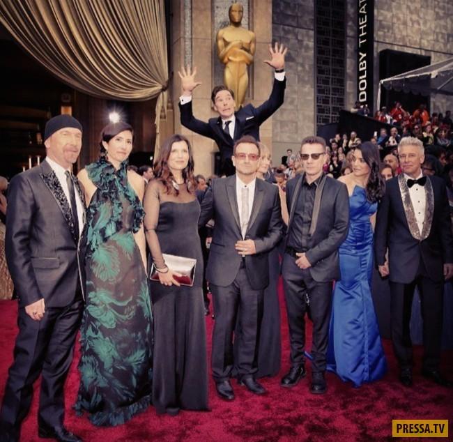 Бенедикт Камбербэтч зафотобомбил группу U2.