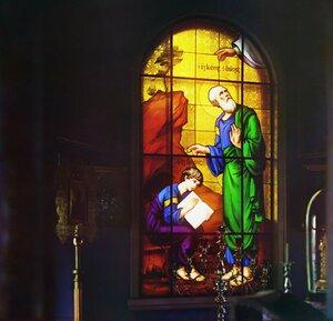Запрестольный образ в церкви Иоанна Богослова. Скит Иоанна Богослова Крестик. Леушинский монастырь. 1909 год