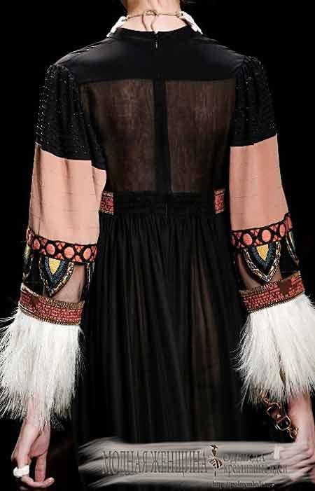 Переделка одежды. Удлиняем рукав с помощью вставок из тканей, капрона, люрекса и бахромы