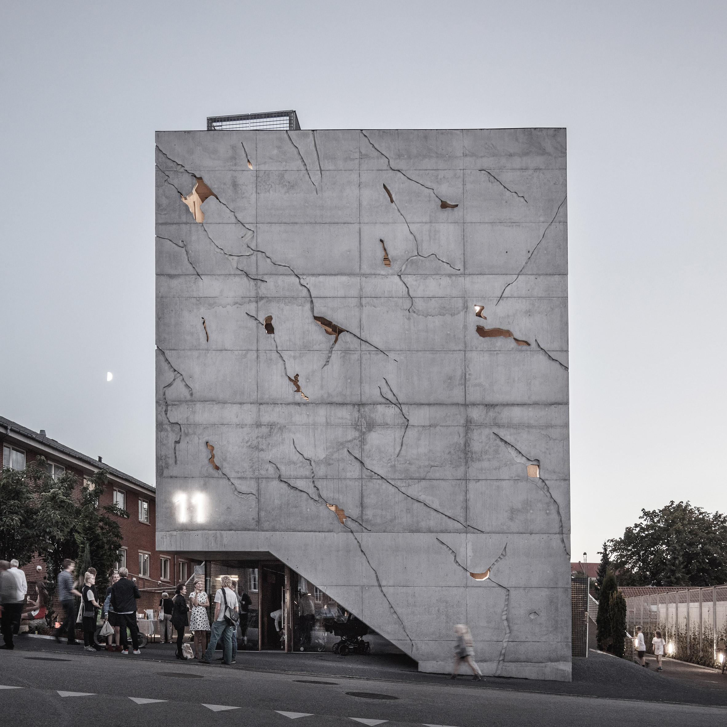 Impressive Cracked Building in Aarhus
