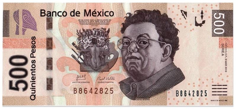 500 песо. Диего Ривера