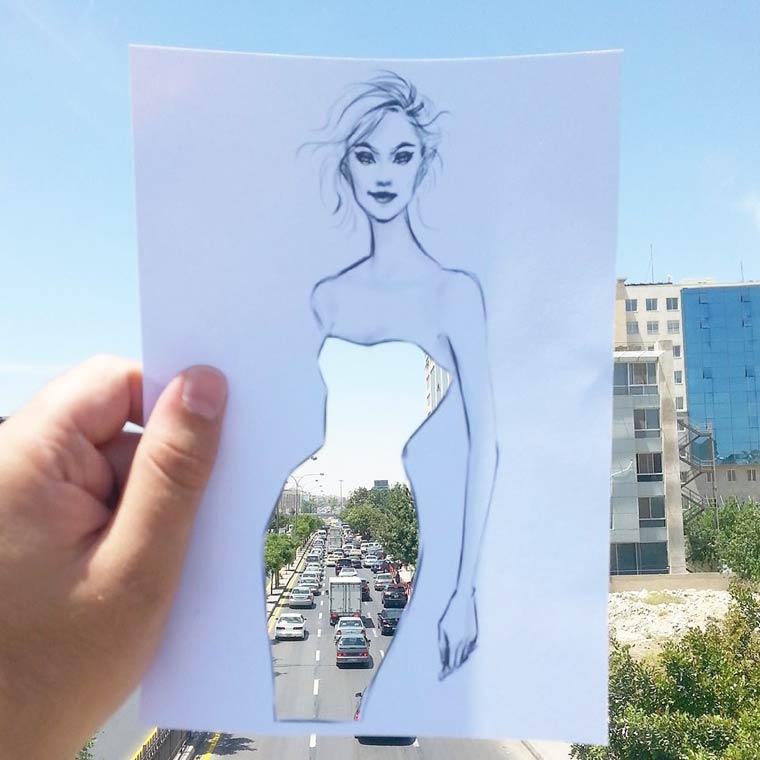 Imaginary Fashion - Utiliser la realite pour creer de jolies robes imaginaires