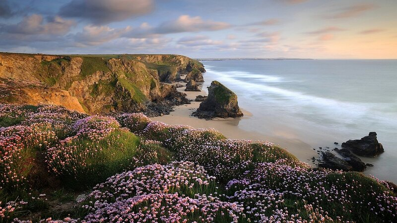 Пейзаж на атлантическом берегу Англии