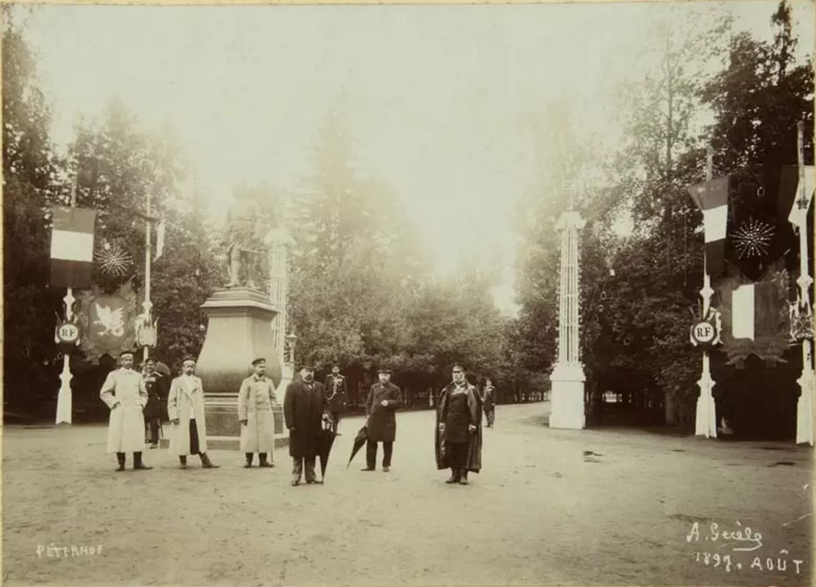 Нижний парк во время визита президента Франции Феликса Фора