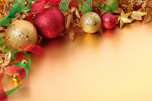 Christmas border with copyspace