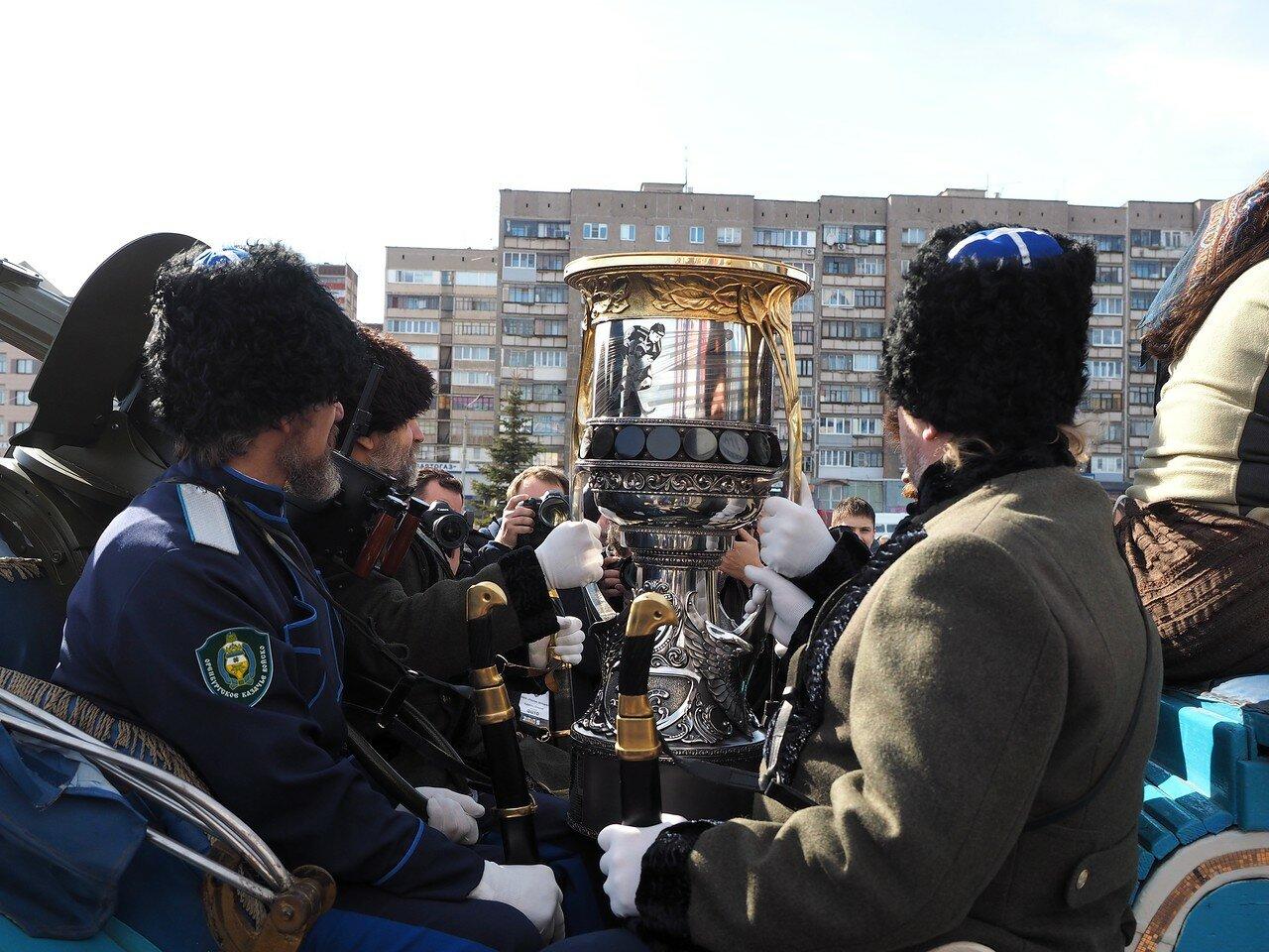 Первая игра финала плей-офф 2017 Металлург - СКА 08.04.2017