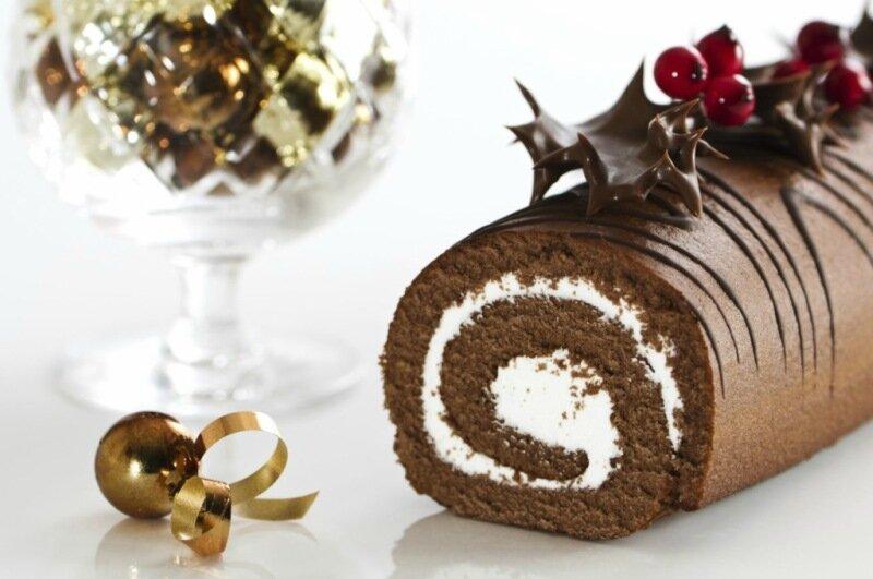 Как приготовить французский торт «Рождественское полено»   видео