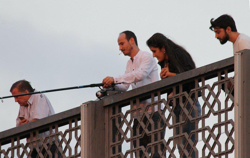 Стамбул. Галацкий мост. Закат