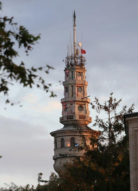 Стамбул на закате. Вид от мечети Сулеймание