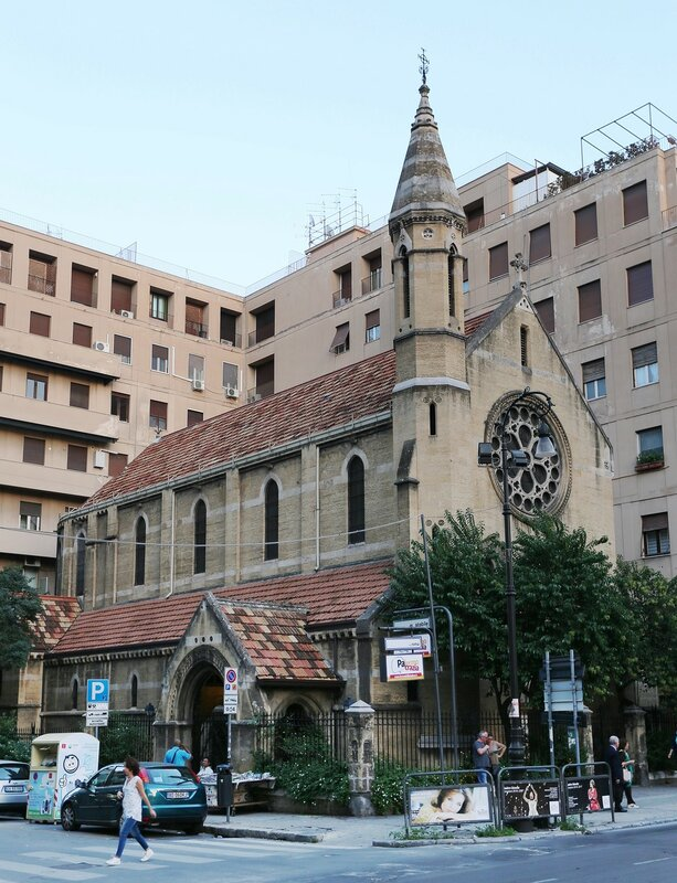 Palermo. The Anglican Church (Chiesa anglicana)