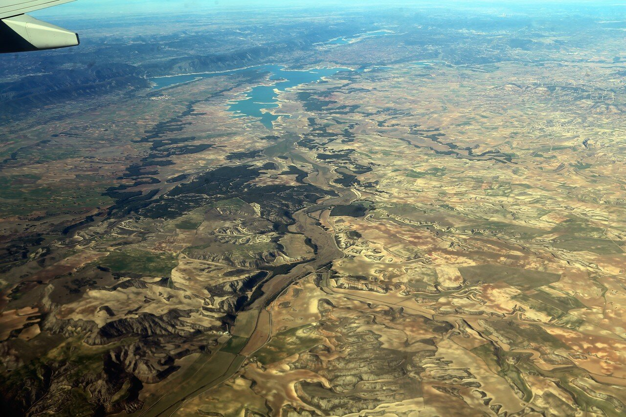 The buendía reservoir, in the Province Guadalajara, aerial view