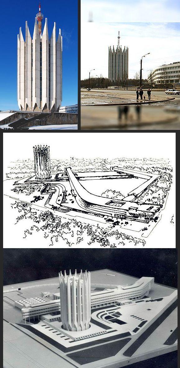 Элегантное, устремленное ввысь здание напоминает не то одинокую часовню, не то ракету, затерявшу