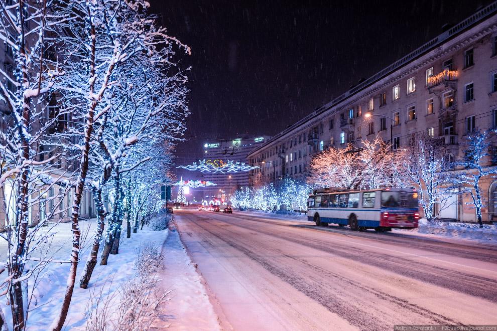 4. Главная улица города — проспект Ленина.