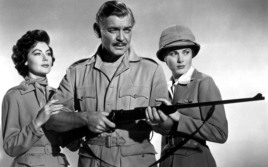 1953 год. Ава Гарднер, Кларк Гейбл и Грейс Келли в фильме «Могамбо». Эта лента принесла Грейс «Золот