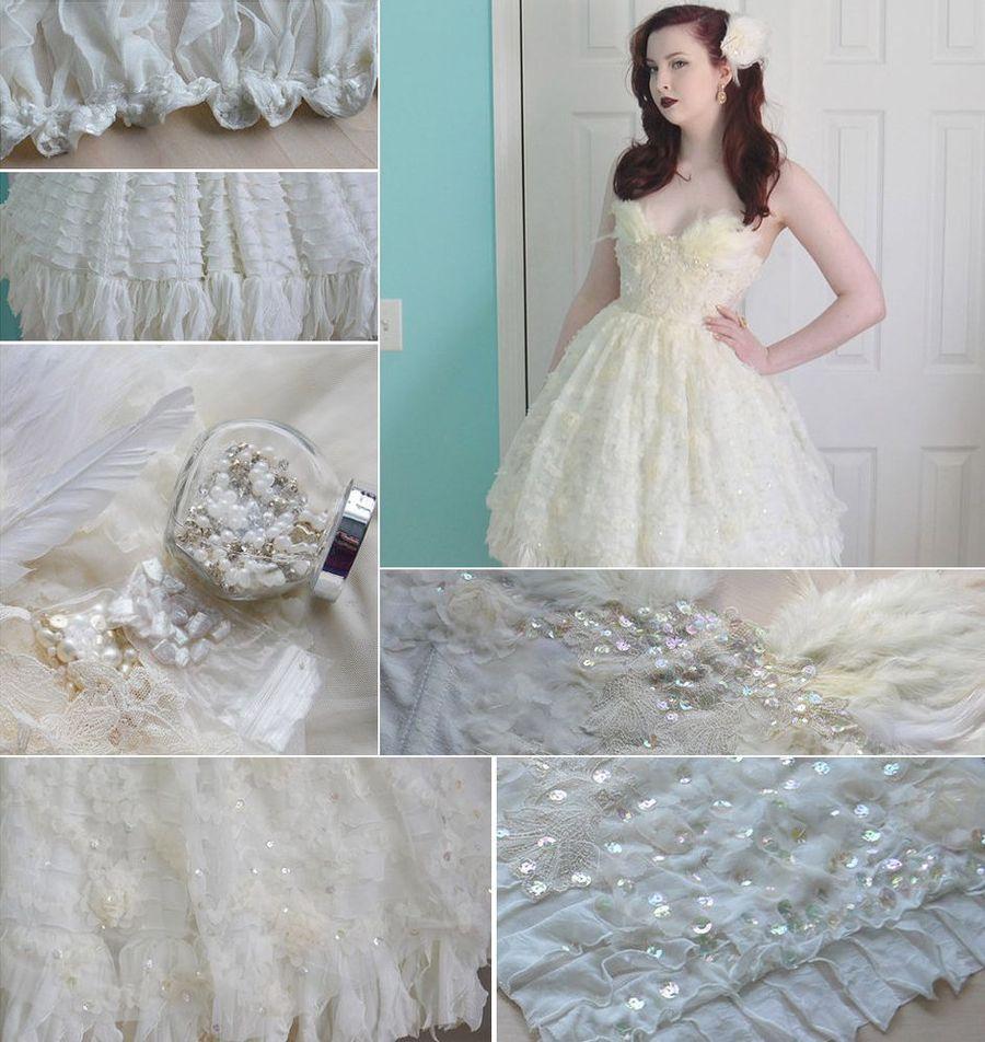 9. На создание этого платья Анджелу вдохновил модный показ бренда Marchesa.