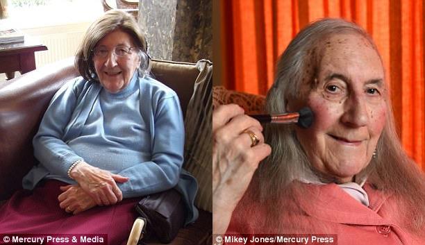 По словам Дэвис, она любит экспериментировать с новыми образами, в том числе с макияжем.