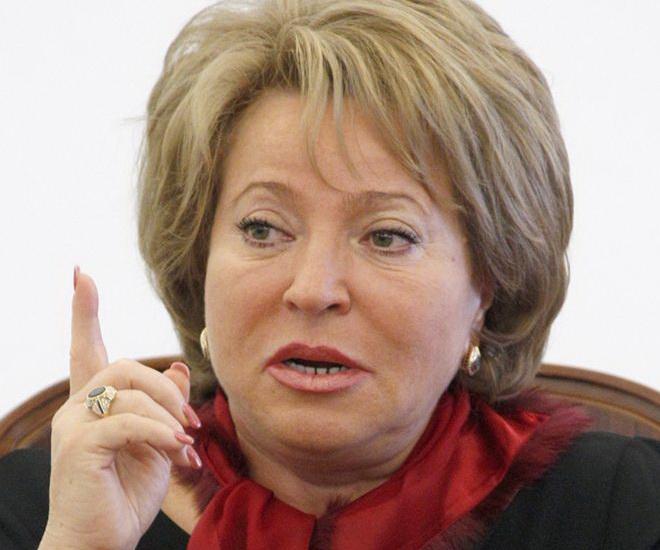 Матвиенко ждет снятия санкций с РФ в предстоящем году