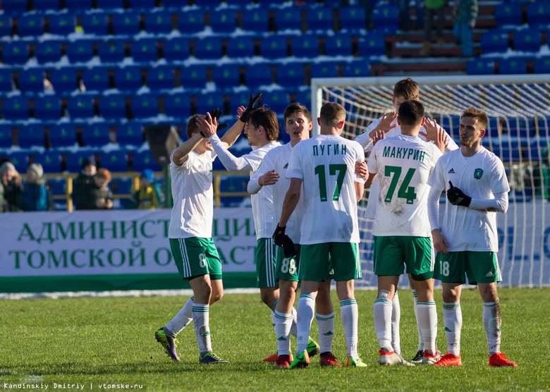 «Томь» и«Рубин» сыграли вничью вматче чемпионата РФ пофутболу