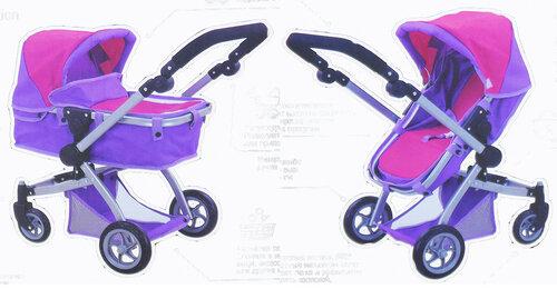 Пример трансформации кукольной коляски 8565 из лежачего варианта в сидячий