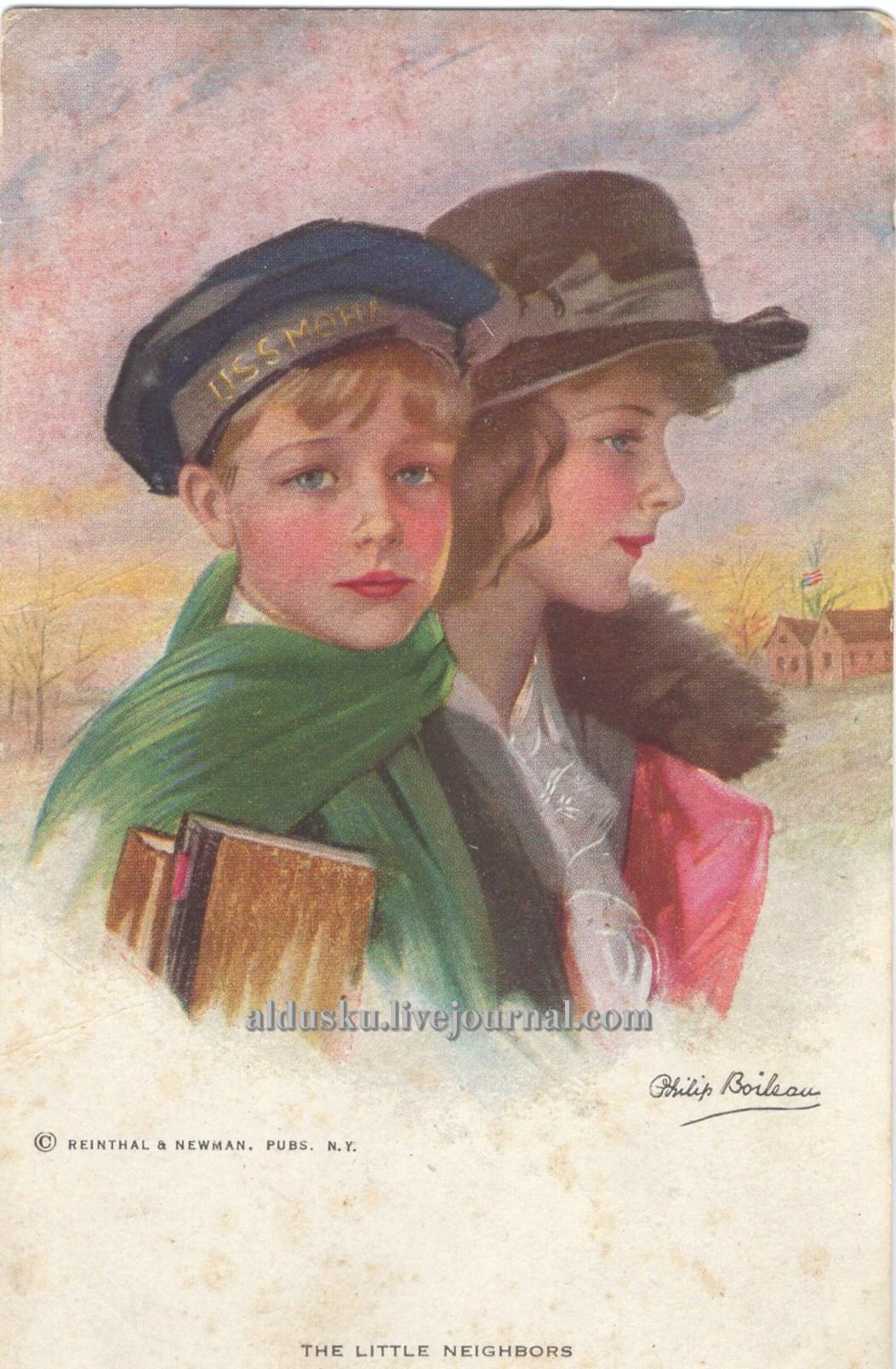 Художник: Филипп Бойло (Philip Boileau 1863-1917); Издательство: Reinthal & Newman, Pubs., N.Y., Рейнзал и Ньюман Америка. Сзади аббревиатура RN и №828