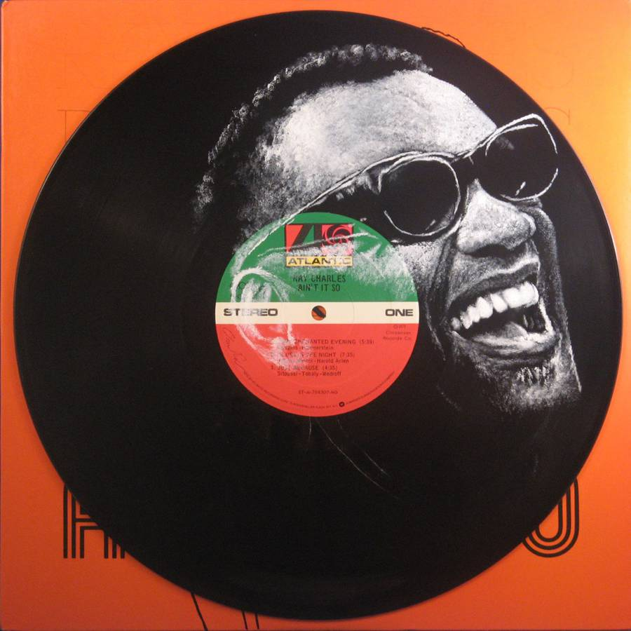 Stunning Portraits of Music Icons Painted on Their Famous Records