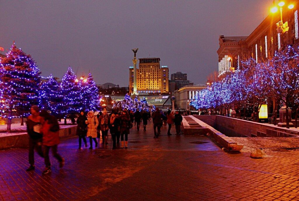 Новогодняя иллюминация Майдана