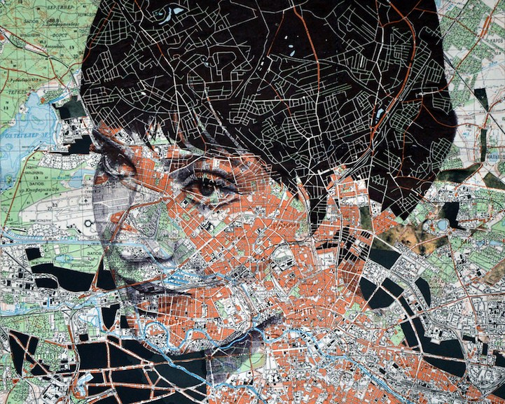 Unconventional portraits drawn on paper maps by Ed Fairburn (13 pics)