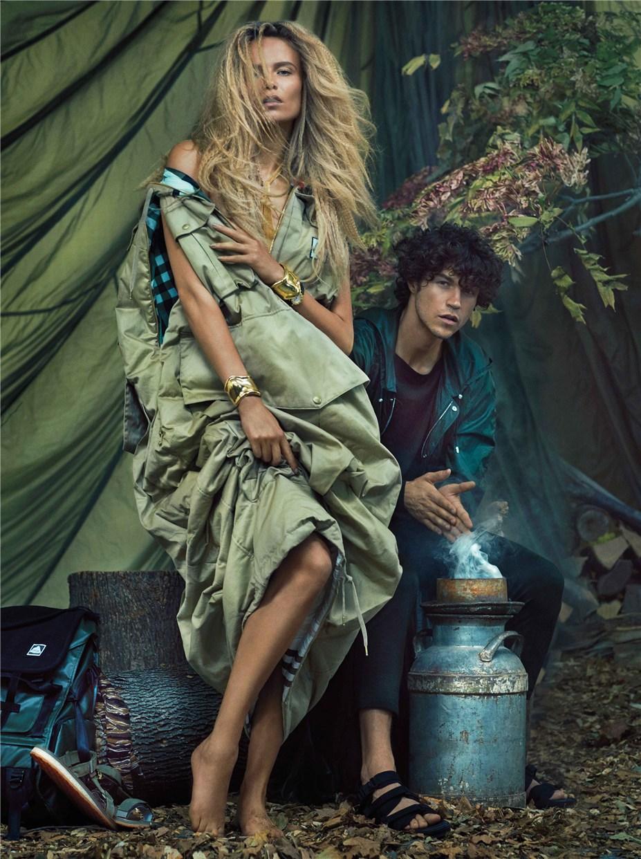 Наталья Полевщикова / Natasha Poly, Miles McMillan by Sebastian Faena - Harper's Bazaar december 2016