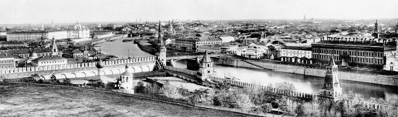 Панорама Зарядья и Замоскворечья. 1884