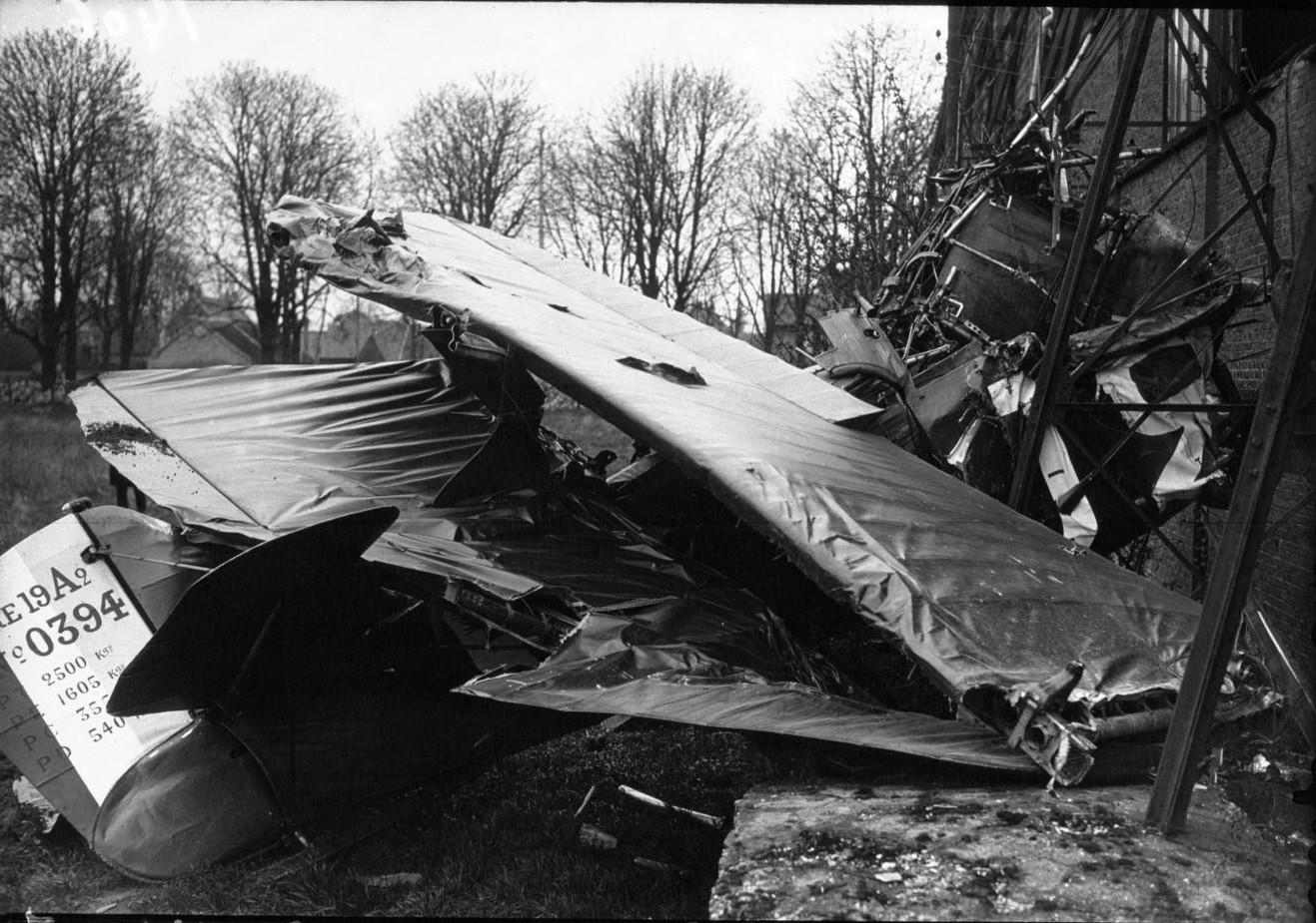 Результат аварии военного самолета в Ле Бурже