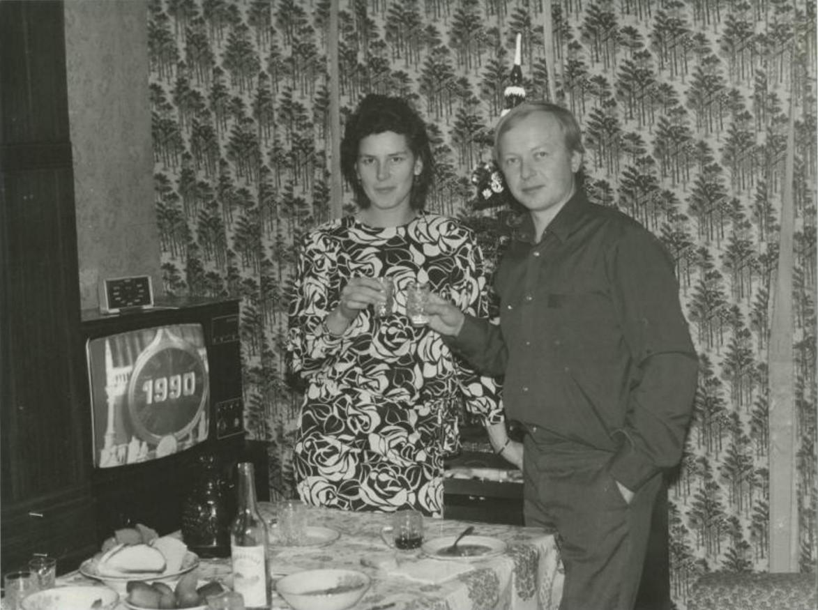 1990. Новый год. Москва
