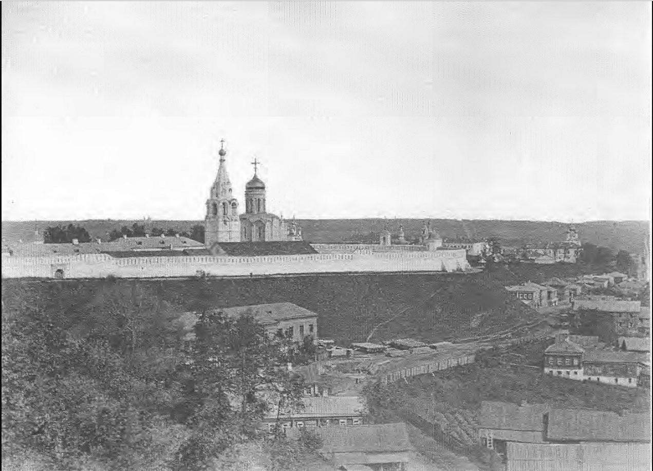Вид с восточной части города на Рождественский монастырь. 1876 - 1881