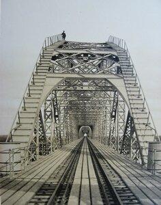 15. Железнодорожный мост через Оку. Портал со стороны Мурома