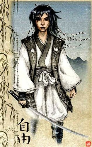 девушка -самурай ?