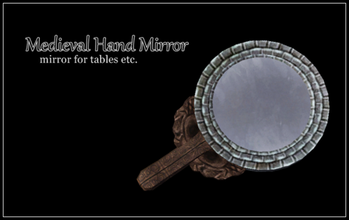 Decorative medieval hand mirror by Terrydy