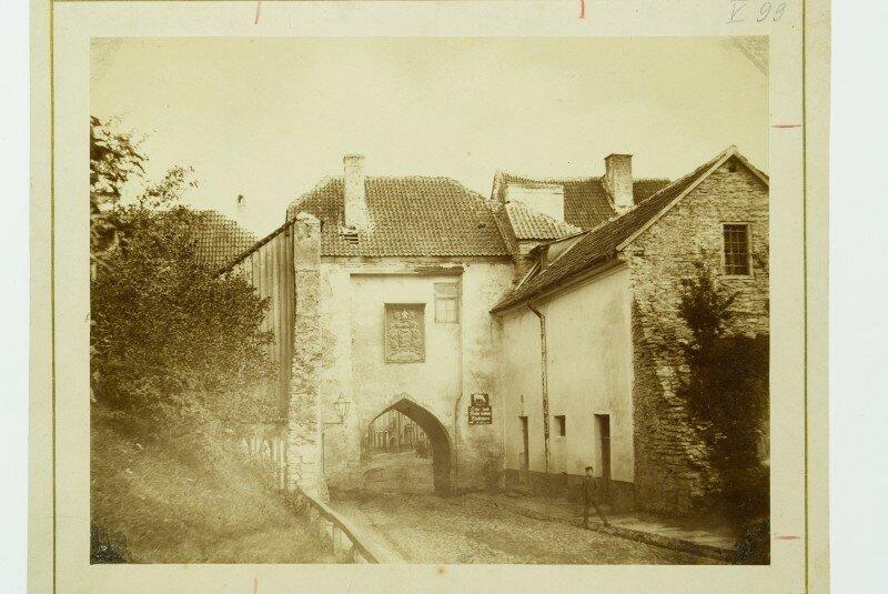 1870с Ревель. Ворота Харью (снеены в 1874 г.). Фотограф Charles Borchardt.jpg