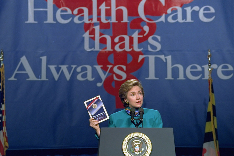 First lady Hillary Clinton in October 1993