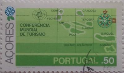 португалия карта зеленая .50