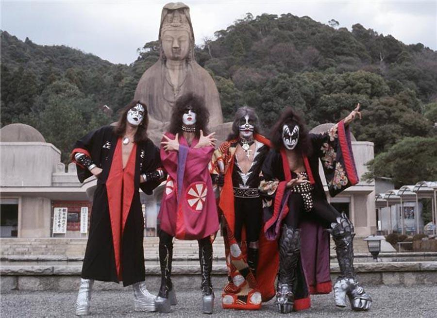 19. Kiss, Киото, Япония, 1977.
